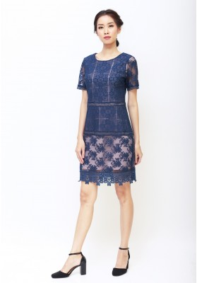 Gabrielle Lace Dress Navy