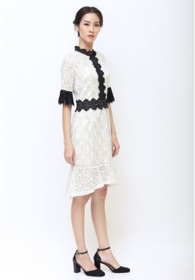 Giovanna Lace Dress White
