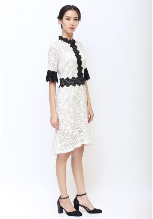 Giovanna Lace Dress White