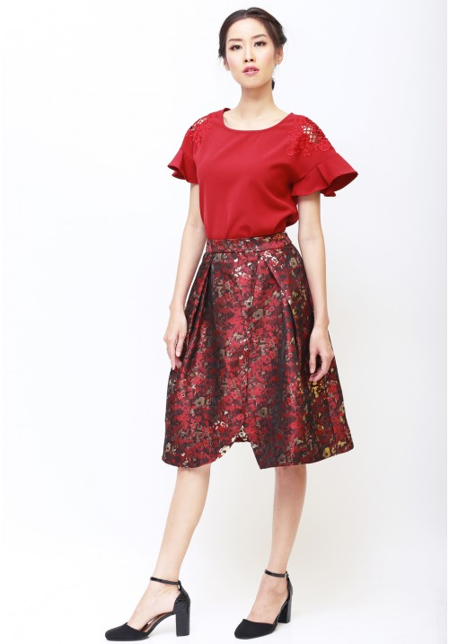 Caterina Top Red