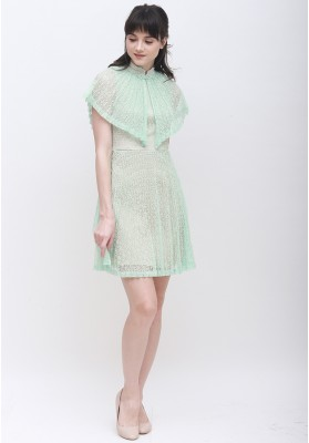 Angelina Cape Cheongsam Dress Green