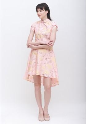 Madison Cheongsam Dress Pink