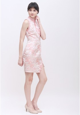 Patricia Cheongsam Dress Pink