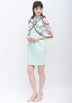 Rylee Cheongsam Dress Green