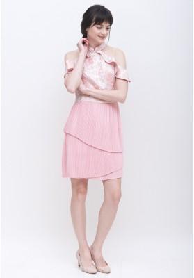 Winslet Cheongsam Dress Pink