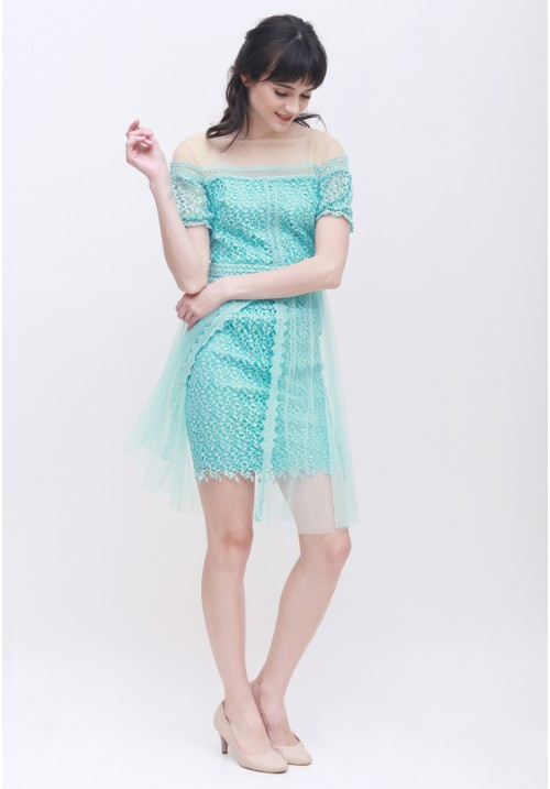 Bailey Lace Dress Green