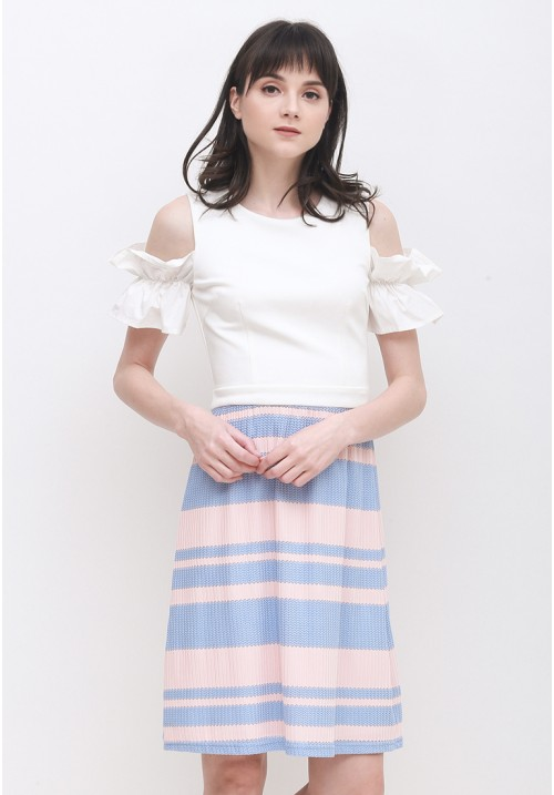Charise Pleated Dress Pink