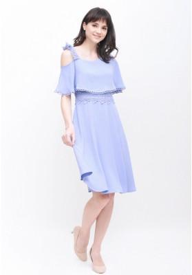 Cora Toga Dress Blue