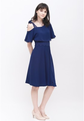 Cora Toga Dress Navy