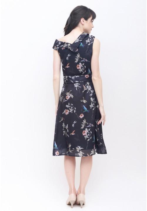 Freya Floral Dress Navy