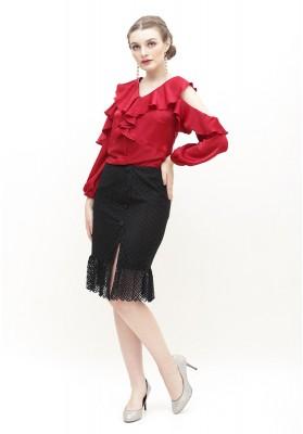 Serafina Lace Skirt Black