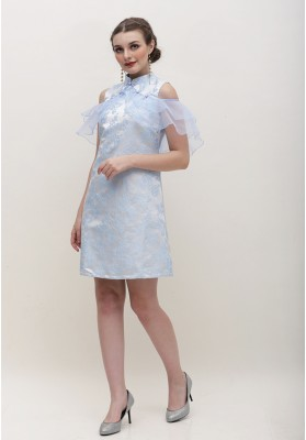 Alice Cheongsam Dress Blue