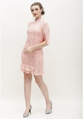 Charisa Cheongsam Dress Pink