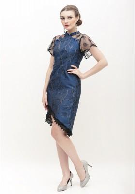 Emmeline Cheongsam Dress Blue