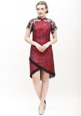 Emmeline Cheongsam Dress Red