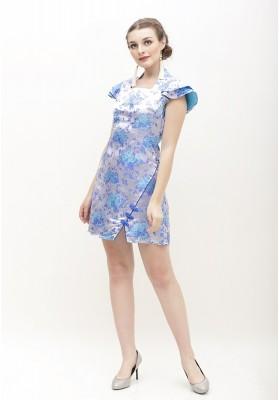 Hennie Cheongsam Dress Blue