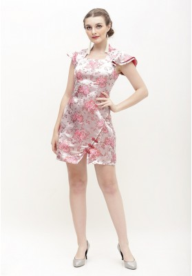 Hennie Cheongsam Dress Pink