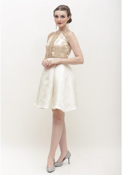 Cerelia Dress Gold