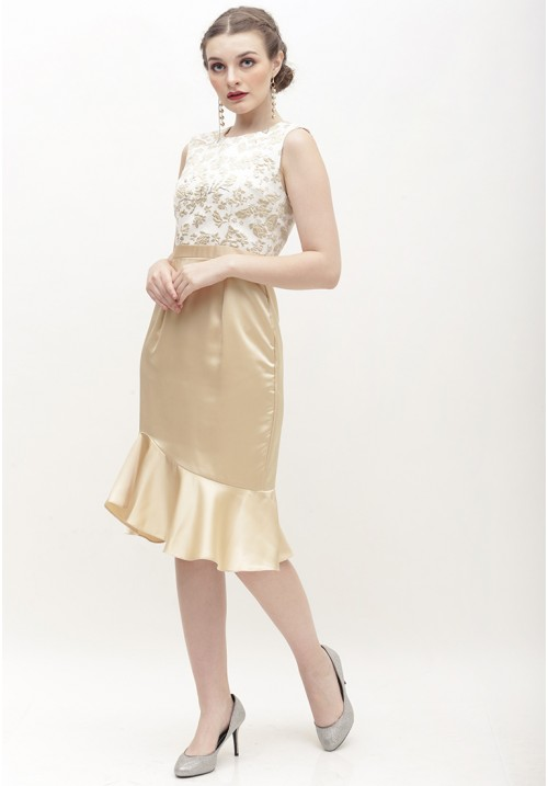 Ginny Dress Gold