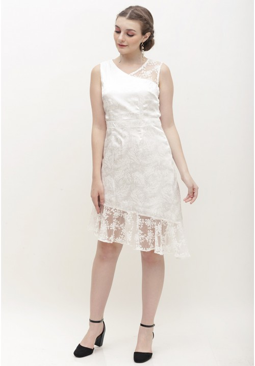 Linneth Dress White