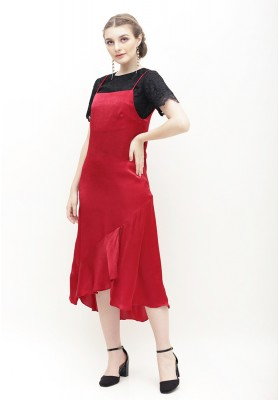 Minerva Slip Dress Red