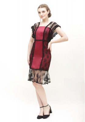 Zephyr Lace Dress Red