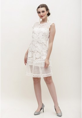 Allison Lace Dress White