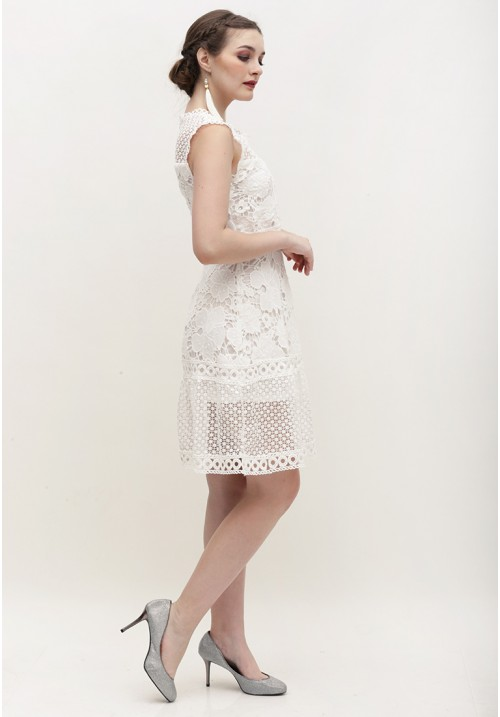 Allison Lace Dress White