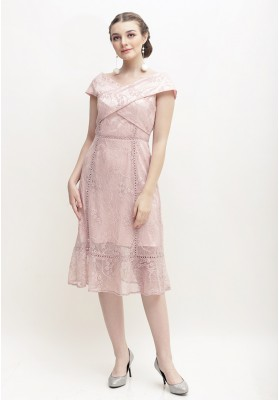 Whitley Lace Dress Pink