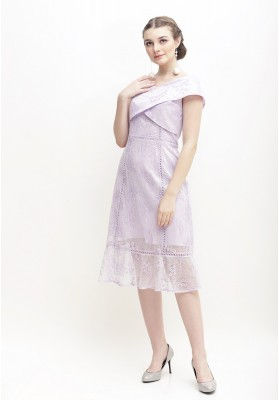 Whitley Lace Dress Purple
