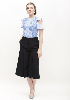Hermoine Embroidered Top Blue