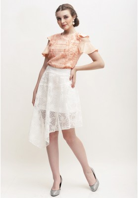 Hermoine Embroidered Top Peach