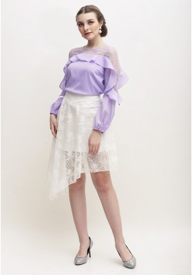 Sofia Lace Top Purple