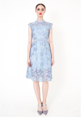 Clarita Lace Dress Blue