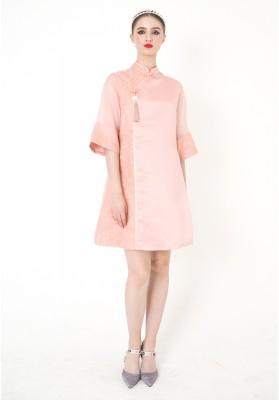Luisa Cheongsam Dress Pink