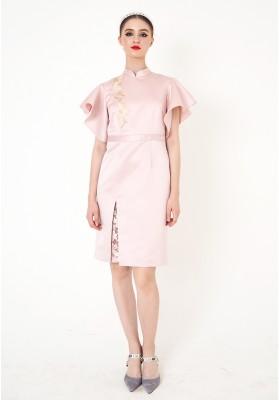 Samantha Cheongsam Dress Pink