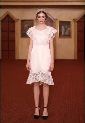 Vinnie Dress White
