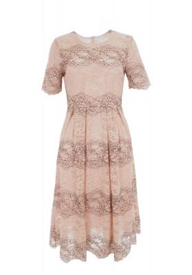 Delmira Lace Dress Pink