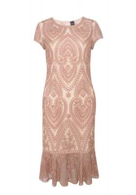 Lara Lace Dress Pink