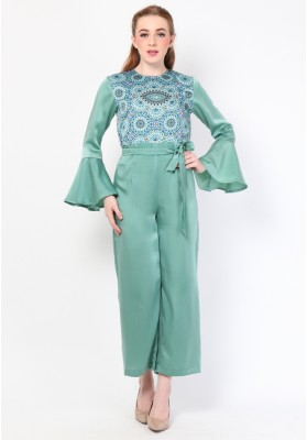 Isadore Print Jumpsuit Green