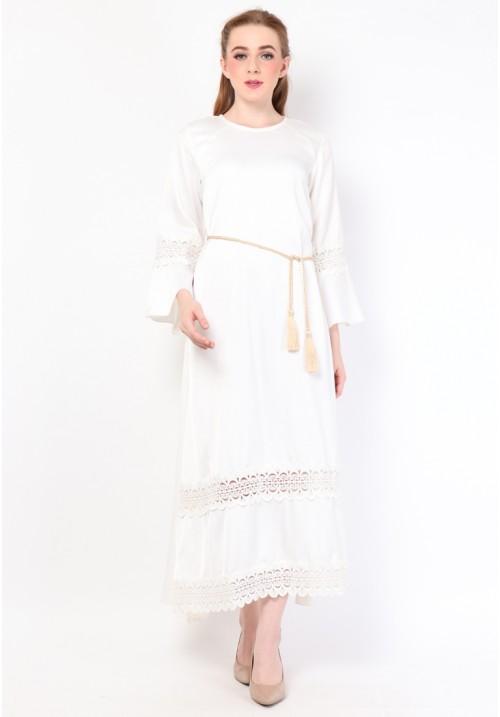 Zahra Long Dress White