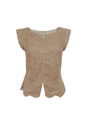 Fabrice Lace Top Brown