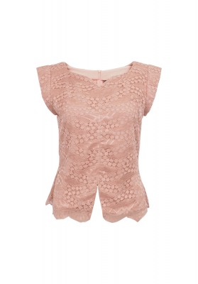 Fabrice Lace Top Pink