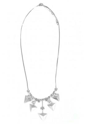 Matt Silver Triangle Necklace Silver