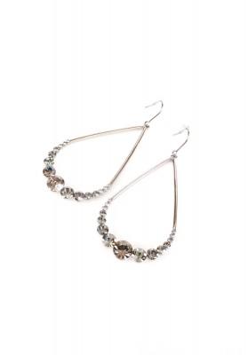 Pendant Pearl Shape Stone Earrings Silver