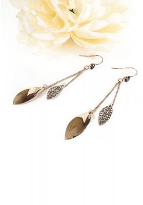 Rhinestone Tassel Zircon Earrings Silver