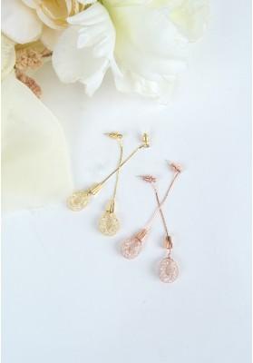 Nest Loop Pendulum Earrings Gold