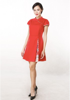 Anna Cheongsam Dress Red