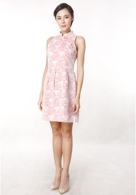 Anna Cheongsam Dress Pink