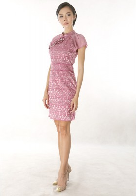Aimee Cheongsam Dress PInk